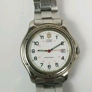 Citizen Quartz Water Resist 6110 Vtg Wrist Watch